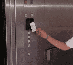 elevator rfid access tap card system