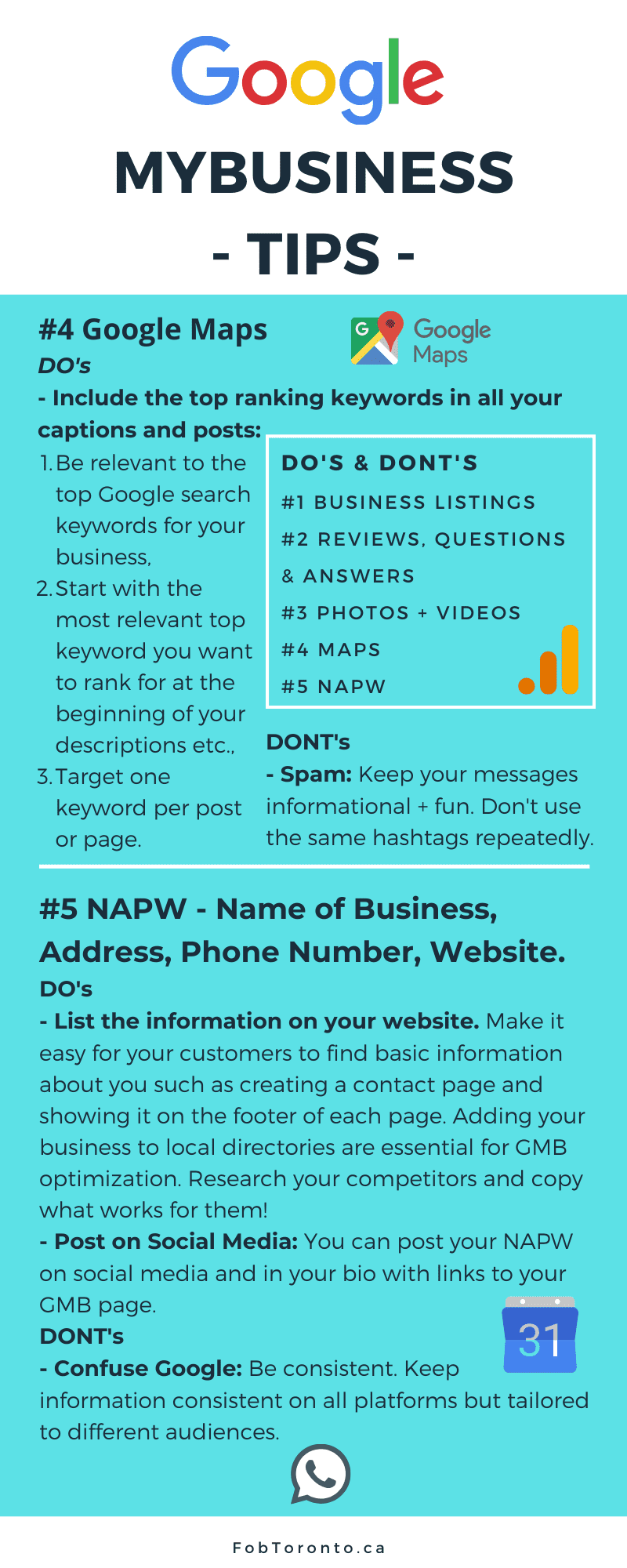 google my business tips to optimize infographics